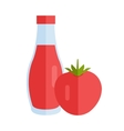 Bottle with Sauce Flat Design vector image vector image