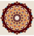 Brown Mandala Stylized Oriental DEsign vector image vector image