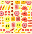 buttons seamless pattern background with buttons vector image