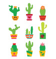 Cactus set vector image vector image