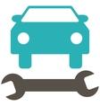 Car Repair Flat Symbol vector image vector image