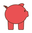 cartoon pink piggy save money bank vector image
