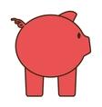 cartoon pink piggy save money bank vector image vector image