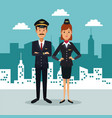 city landscape background with full body couple vector image