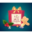 Composition with gift candles and vector image vector image
