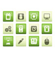 computer and mobile phone elements icons vector image vector image