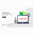 concept page error modern conceptual for vector image