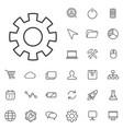 development outline thin flat digital icon set vector image