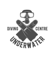 diving vintage labels logos and design elements vector image vector image