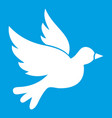 dove icon white vector image