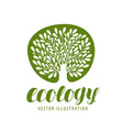 ecology environmental protection nature logo or vector image vector image