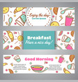 enjoy the day slogan good morning text cafe vector image
