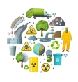 Environmental Pollution Circle Composition vector image