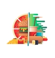 Fast food design flat vector image