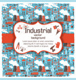figured placard on industrial background vector image vector image