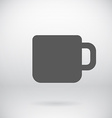 Flat Coffee Mug Tea Cup Icon Symbol Background vector image vector image