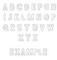 font outline alphabet letters vector image