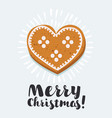 gingerbread heart cookies on a wooden brown vector image vector image