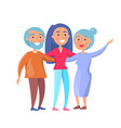 happy mature family wife and husband and daughter vector image vector image