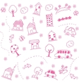 Home and buuildings doodle art vector image