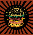 icon a delicious burger vector image