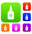 insect spray set collection vector image vector image