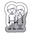 Isolated girl and boy cartoon design vector image vector image