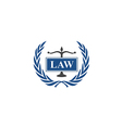 law emblem abstract logo vector image vector image
