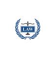 law emblem abstract logo vector image