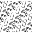line clips with eraser and sharpener tools vector image vector image