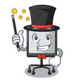 magician presentation board isolated on a mascot vector image