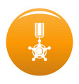 medal icon orange vector image
