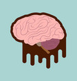 medical with stylized brain diseases vector image