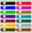 Notepad calendar icon sign Big set of 16 colorful vector image