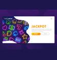online slots website casino web page vector image