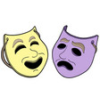 pair of theatre masks vector image