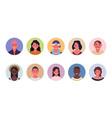 people avatar bundle set user portraits vector image vector image