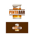 Pinta Bar Logo vector image