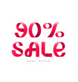 sale 90 percent off vector image vector image