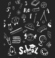 school items seamless pattern vector image vector image