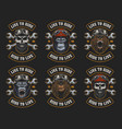 set of biker emblems vector image vector image