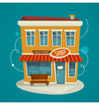 Shop building front view cartoon vector image