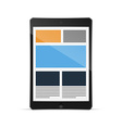 tablet with responsive grid layout vector image vector image