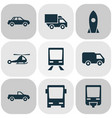 transportation icons set collection of van vector image
