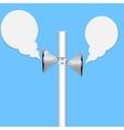 Two loudspeakers vector image