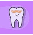 Ultraviolet teeth whitening concept vector image vector image
