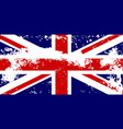 union jack flag grunge vector image vector image