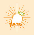 vintage style card fresh organic natural mango vector image