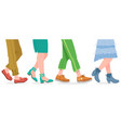 walking boots people walking in modern shoes man vector image vector image