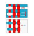webbing business card vector image vector image
